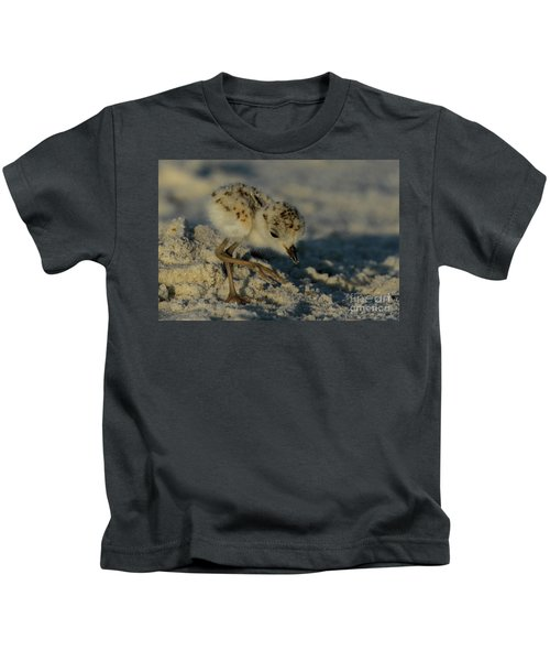 Snowy Plover On The Hunt Kids T-Shirt