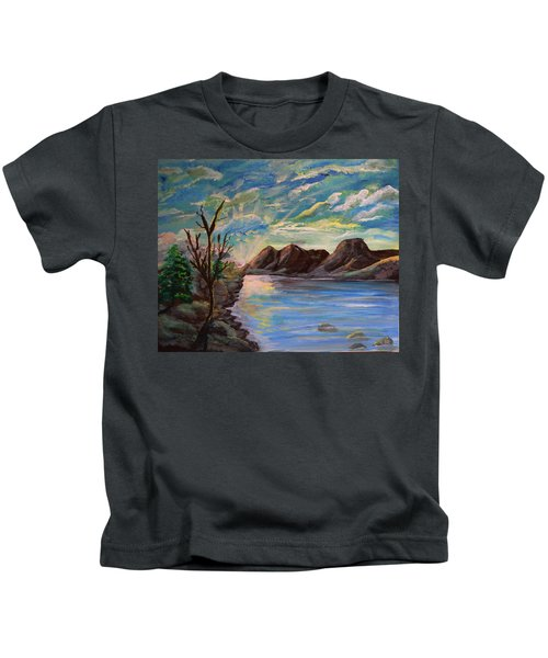 Snowy Range And Lookout Lake Kids T-Shirt