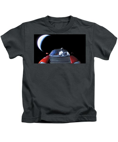 Spacex Starman In Space Kids T-Shirt
