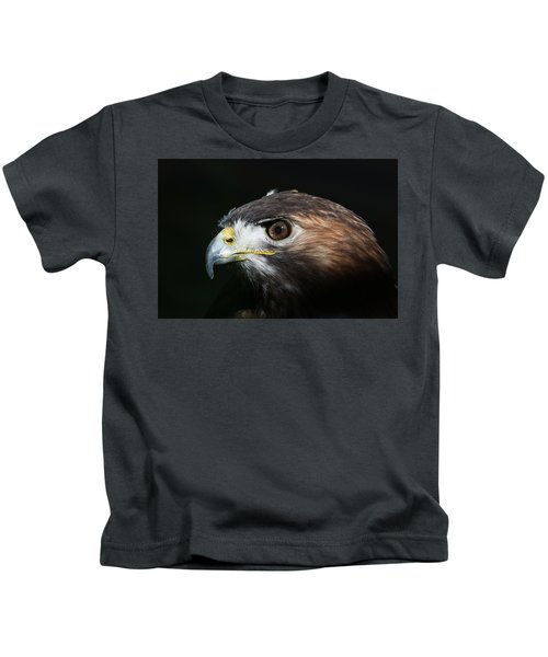 Sparkle In The Eye - Red-tailed Hawk Kids T-Shirt