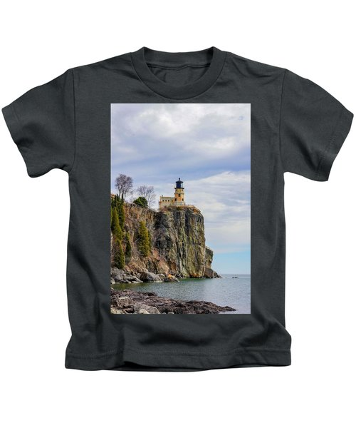 Split Rock Lighthouse Portrait Kids T-Shirt
