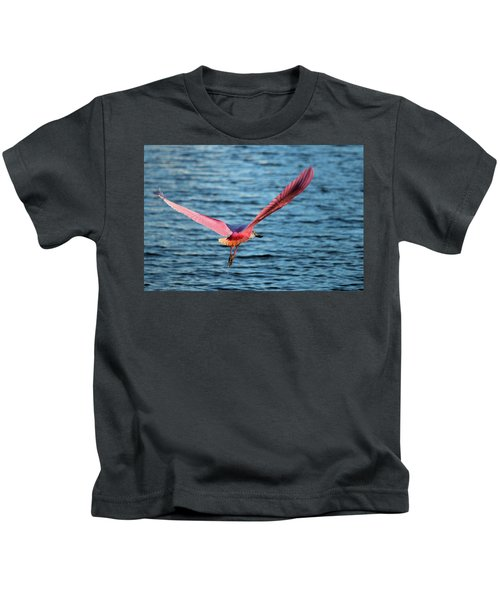 Spoonbill Wingspan Kids T-Shirt