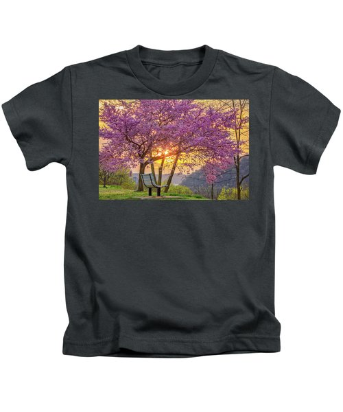 Spring Bench In Beaver 2 Kids T-Shirt