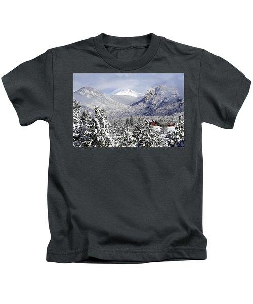 Spring Snow In Estes Park Colorado Kids T-Shirt