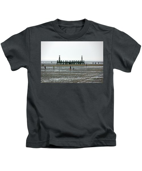 St. Annes. On The Beach. Kids T-Shirt