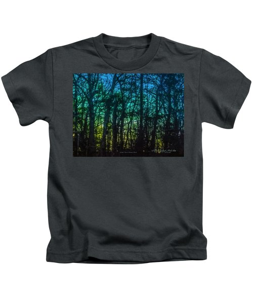 Stained Glass Dawn Kids T-Shirt