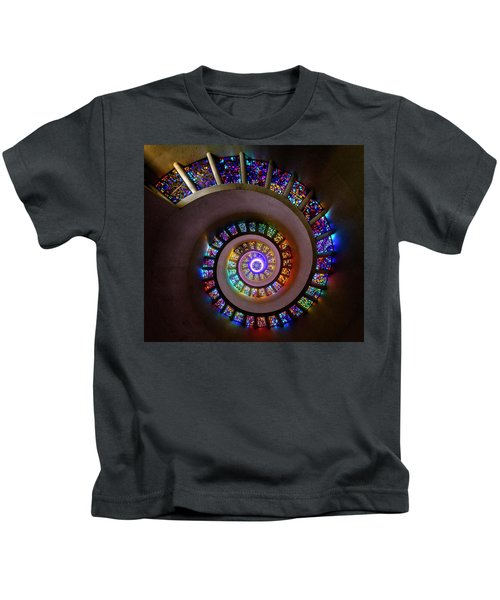 Stained Glass Spiral Kids T-Shirt
