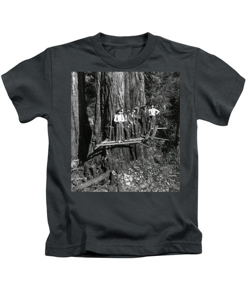 Staking Out A Giant Sequoia C. 1889 Kids T-Shirt