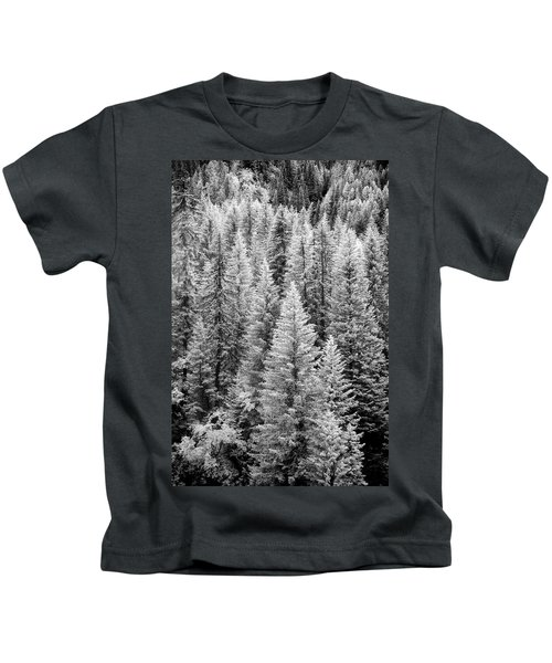 Standing Tall In The French Alps Kids T-Shirt