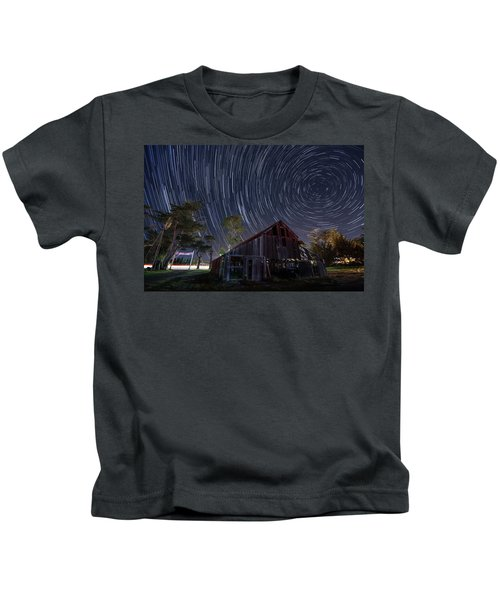 Star Trails Over Bonetti Ranch Kids T-Shirt