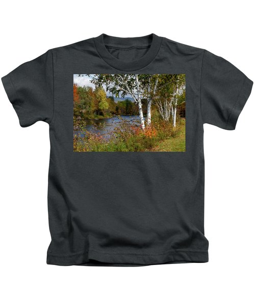 Stark, Nh Fall White Birch  Kids T-Shirt