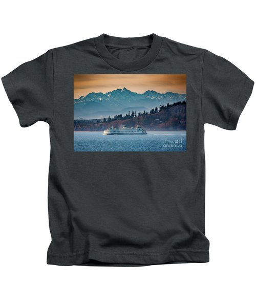State Ferry And The Olympics Kids T-Shirt