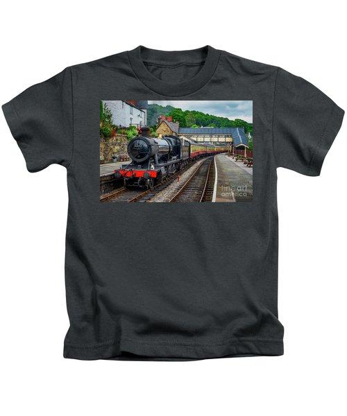 Steam Locomotive Wales Kids T-Shirt