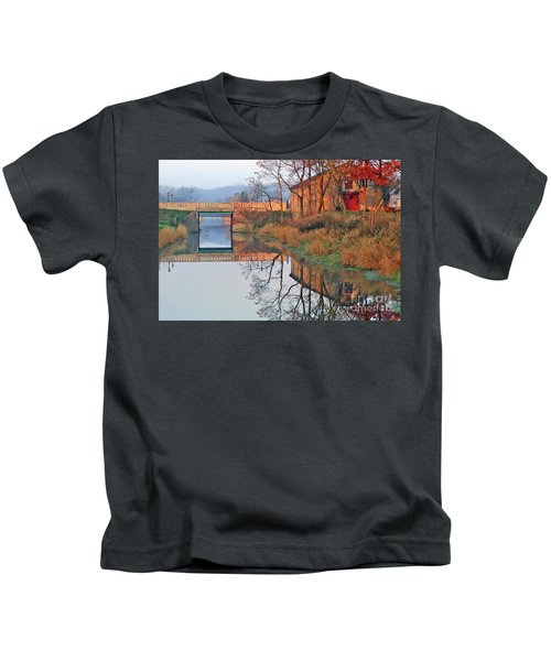 Still Waters On The Canal Kids T-Shirt