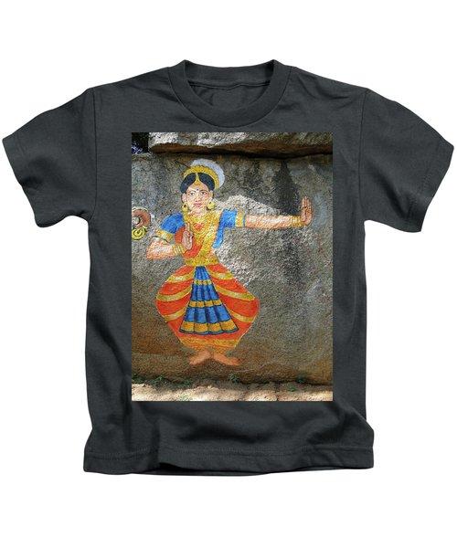 Stone Painting Of Nautch Dancing Gir Kids T-Shirt