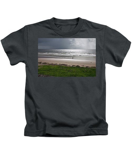 Storm Brewing Over The Sea Kids T-Shirt