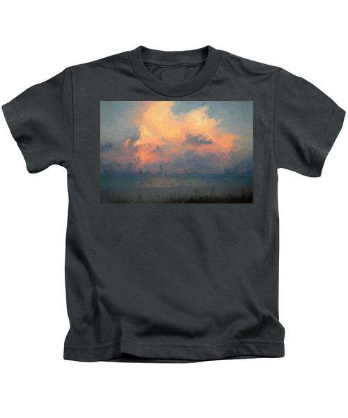 Stormy Beach Kids T-Shirt