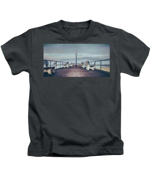 Stormy Boardwalk Kids T-Shirt