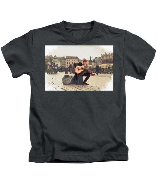 Street Music. Guitar. Kids T-Shirt