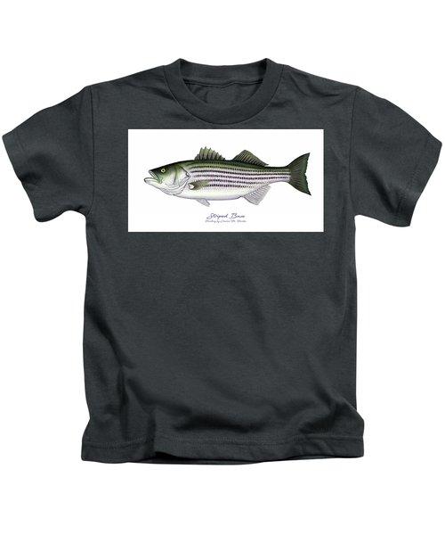 Striped Bass Kids T-Shirt