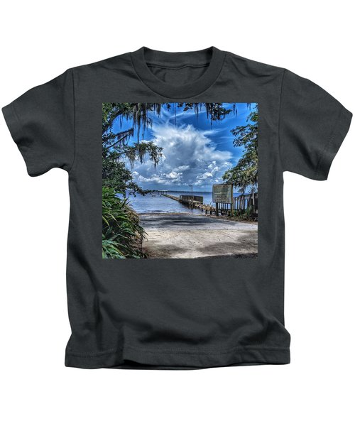 Strolling By The Dock Kids T-Shirt