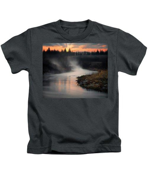 Sturgeon River Morning Kids T-Shirt
