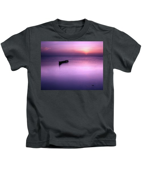 Sun Sets On A Sunken Boat Kids T-Shirt