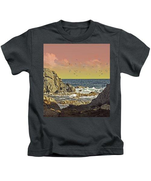 Sundown At Buck Kids T-Shirt
