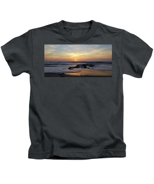 Sunrise At The 15th St Jetty Kids T-Shirt