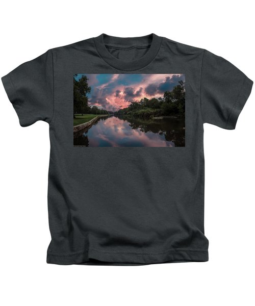 Sunrise On The River Kids T-Shirt