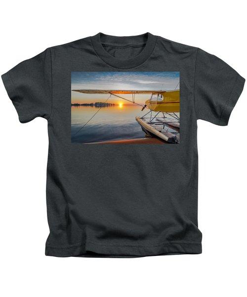 Sunrise Seaplane Kids T-Shirt