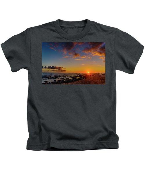 Sunset At Kailua Beach Kids T-Shirt