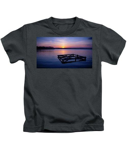 Sunset At The Reservoir  Kids T-Shirt