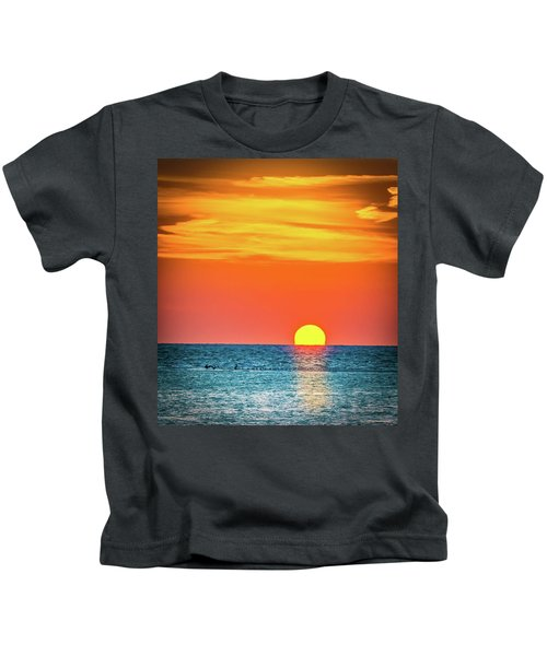 Sunset Captiva  Kids T-Shirt