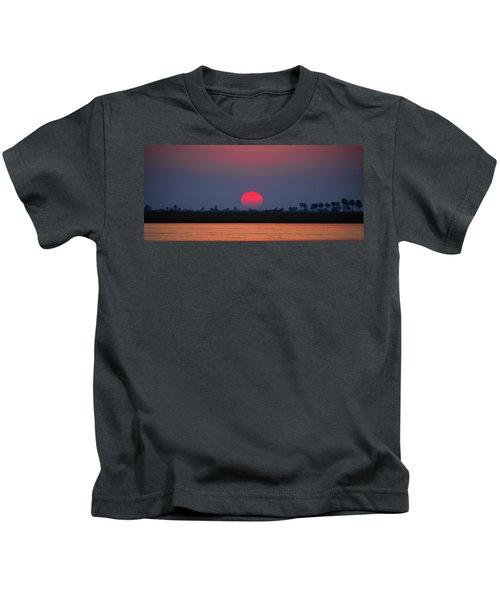 Sunset In Botswana Kids T-Shirt
