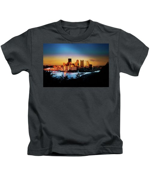 Sunset In The City Kids T-Shirt