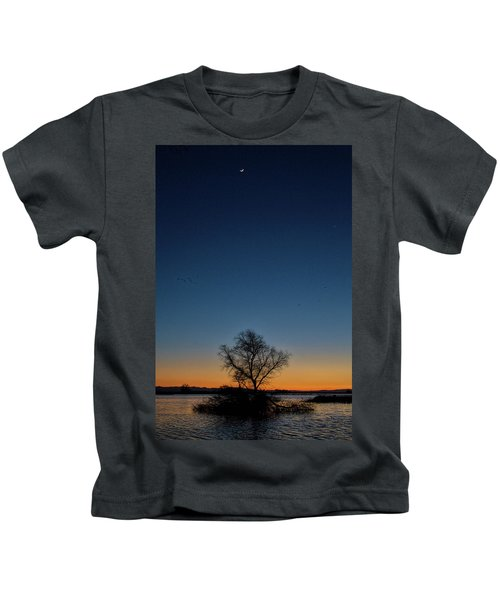 Sunset In The Refuge With Moon Kids T-Shirt