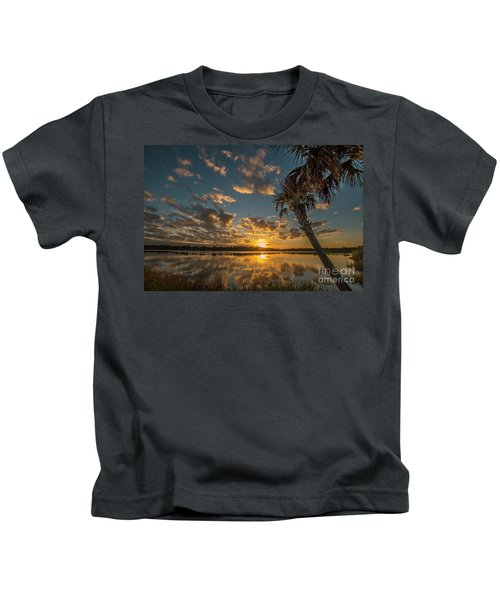 Sunset On The Pond Kids T-Shirt