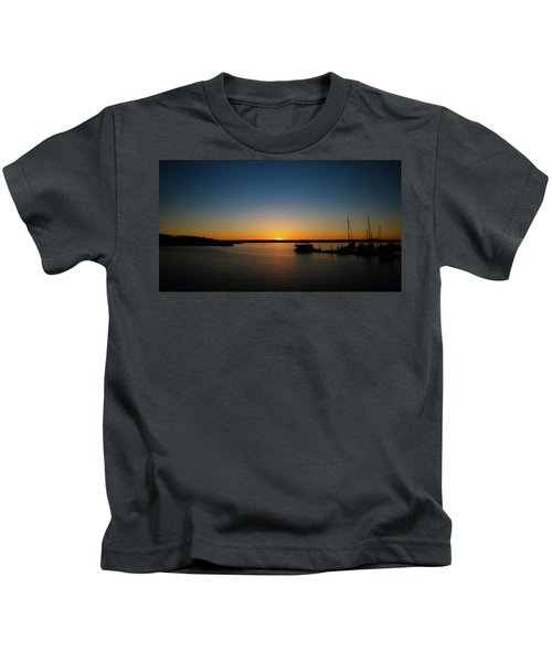 Sunset Over The Potomac Kids T-Shirt