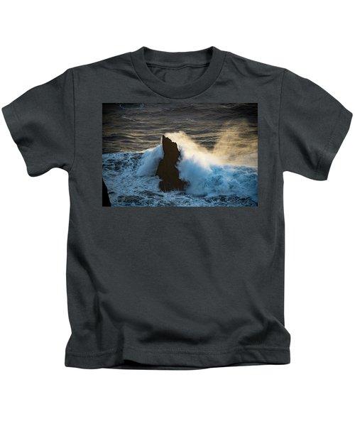 Surf At Sunset Kids T-Shirt