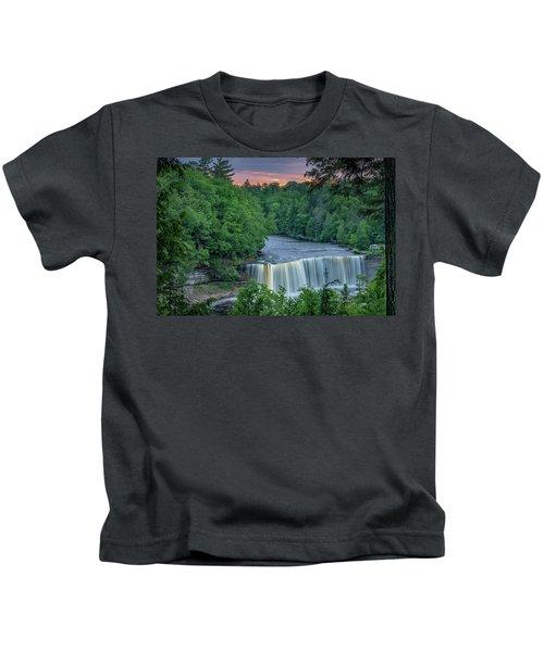 Tahquamenon Falls Sunset. Kids T-Shirt