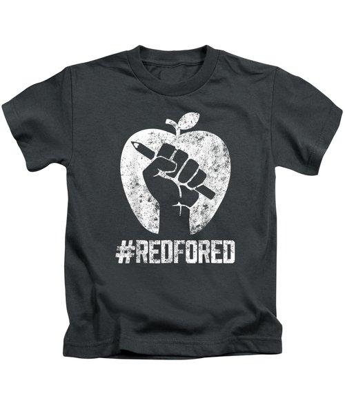 Teachers Strike Tee Educator Walkout Red For Ed T Shirt Kids T-Shirt