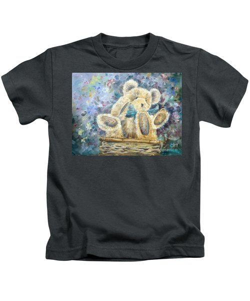 Teddy Bear In Basket Kids T-Shirt