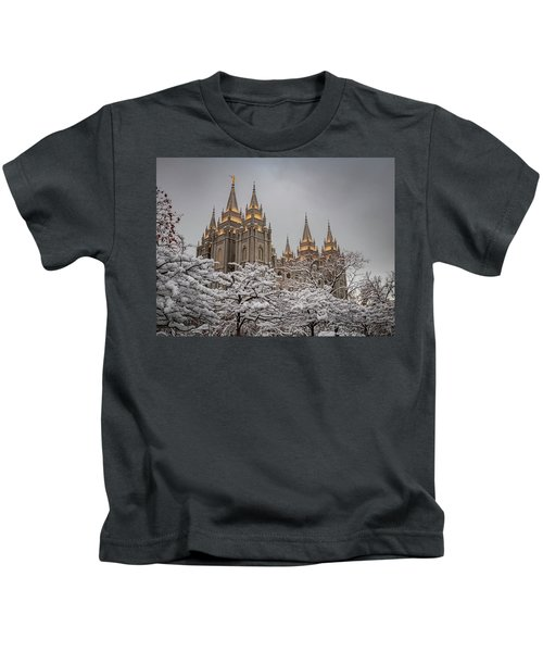 Temple In The Snow Kids T-Shirt