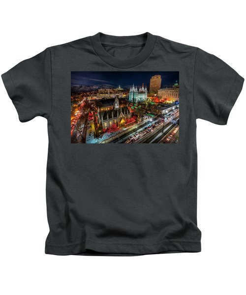 Temple Square Lights Kids T-Shirt