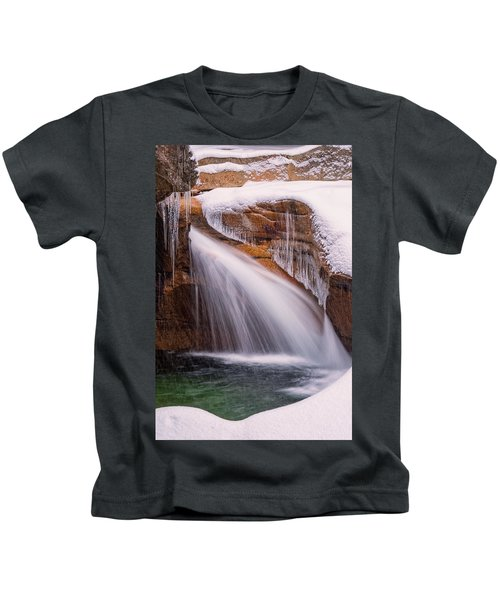 The Basin, Close Up In A Winter Storm Kids T-Shirt