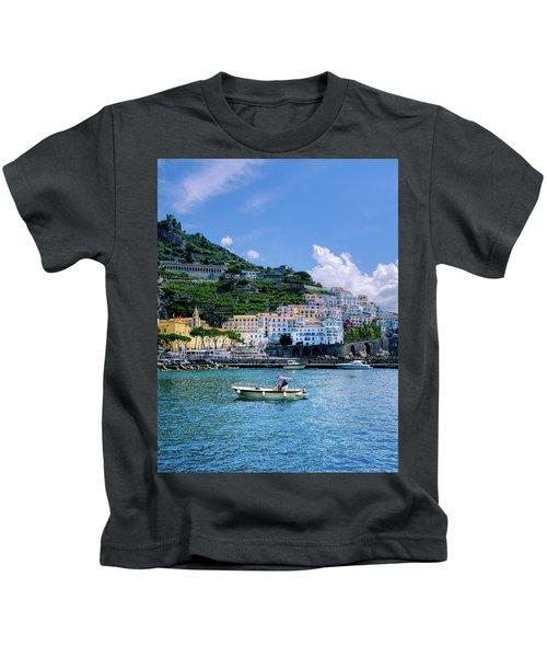 The Colorful Amalfi Coast  Kids T-Shirt