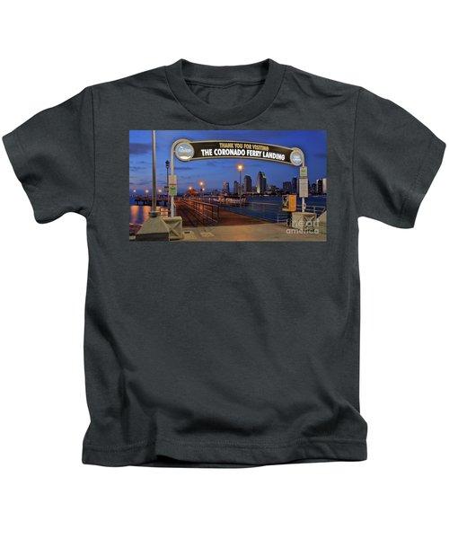 The Coronado Ferry Landing Kids T-Shirt