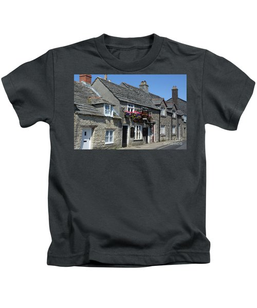 The Fox Inn At Corfe Castle Kids T-Shirt