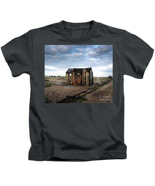 The Net Shack, Dungeness Beach Kids T-Shirt